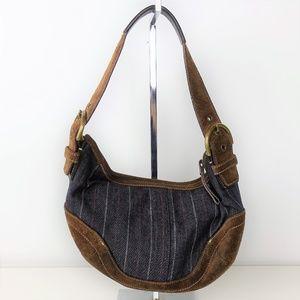 Coach Vintage Mini Hobo Shoulder Bag Leather Denim